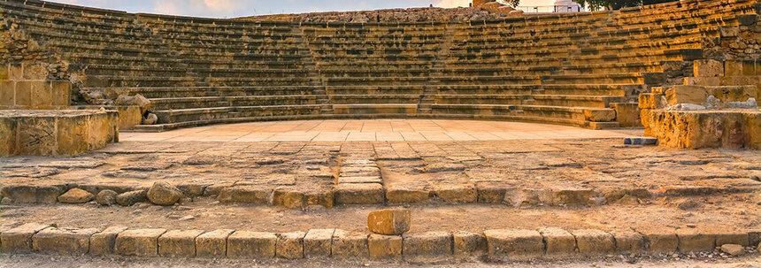 Древний Одеон - действующий античный театр на Кипре: фото 13