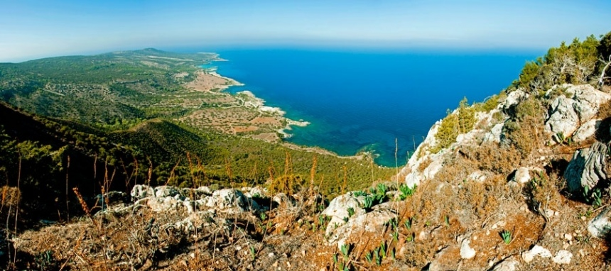 View from the top of Mount Rigena, Cyprus
