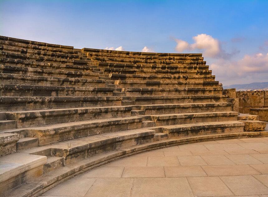 Древний Одеон - действующий античный театр на Кипре: фото 14